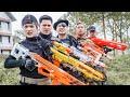 LTT Game Nerf War Warriors SEAL X Nerf Guns Fight Criminal Group Black Man Double Tap