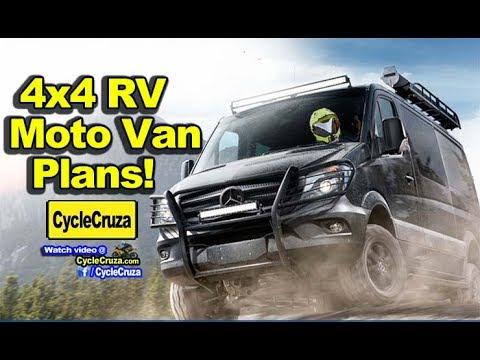 4x4 Camper Van Build Plans - Carry Motorcycle Inside!  | MotoVlog