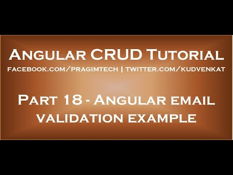 Angular email validation example