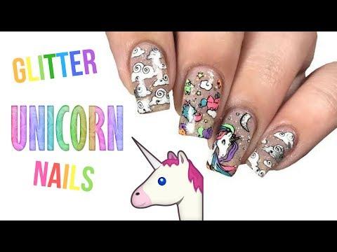 🌈 HOLO Unicorn Nail Tutorial!! 🌈
