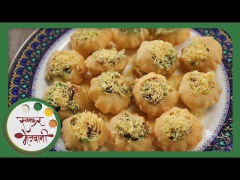 Ragda Puri | Mumbai Street Food Chaat | Recipe by Archana in Marathi | Easy & Quick