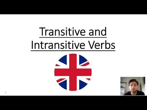 How to: Transitive & Intransitive verbs