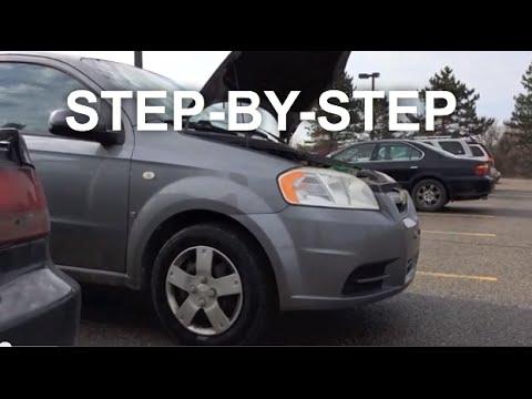 Chevy Aveo Alternator replacement-change-