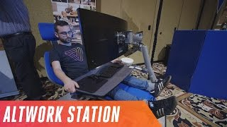 Altwork station lets you work lying down
