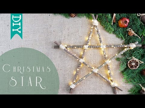🌟 LED STAR light DIY | How to make Christmas lights 🎄 using natural materials DIY