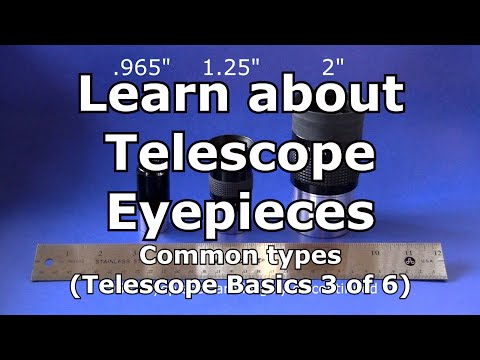 Telescope Basics 3 (of 6): Understanding common eyepieces for telescopes