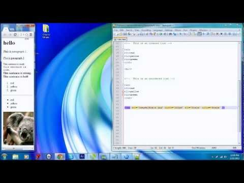 Web Site Tutorial Part 3 - HTML images & notepad++