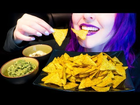 ASMR: Spicy Chili Tortilla Chips & Dips | Crunchy Snack ~ Relaxing Eating Sounds [No Talking|V] 😻