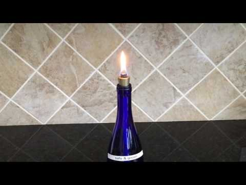 Eco Friendly, Firefly Safe & Green Fuel for DIY Wine Bottle Tiki Torches and Oil Lamps