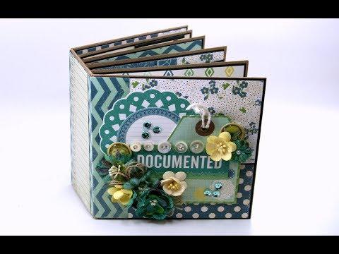 Vintage Documented Mini Album Scrapbook Polly's Paper Studio Echo Park Flip Through Handmade Craft