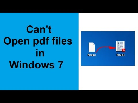 can't open pdf files in windows 7 - solved