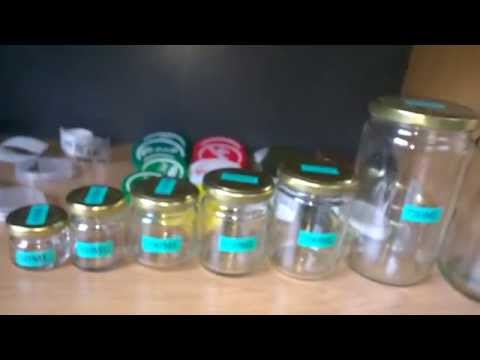 mini glass jars with metal lid