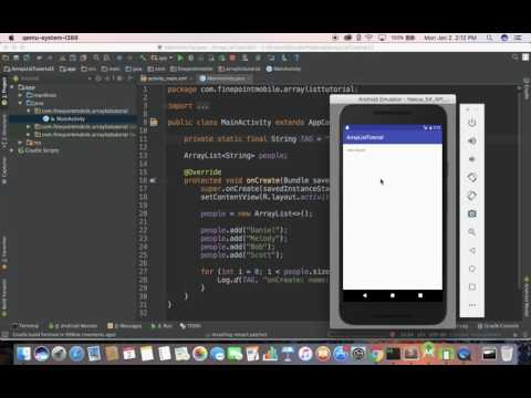 Android Tutorial Part 9 of 100: ArrayList (String)
