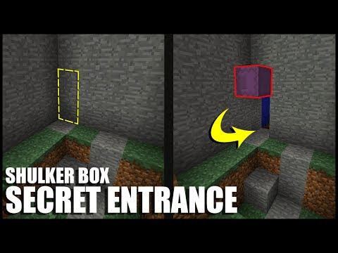 How to Make a Shulker Box Secret Entrance in Minecraft
