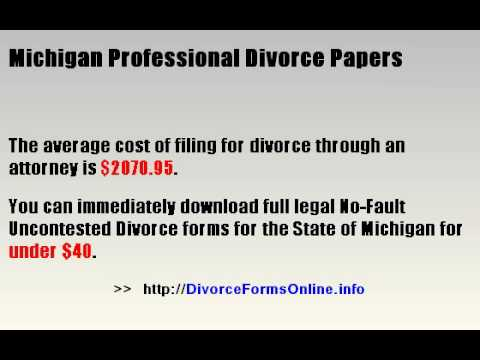 Michigan Divorce Forms Online | Fast | Save Over $2000