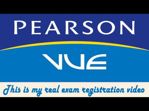 Register for an exam at Pearson VUE