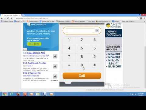 Make daily 60 minutes Free Mobile phone calls  from internet
