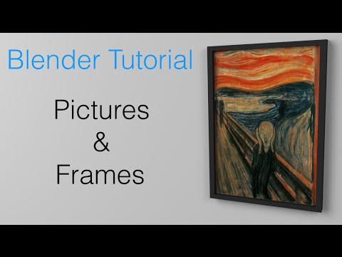 How To Import Pictures And Paintings Into Blender