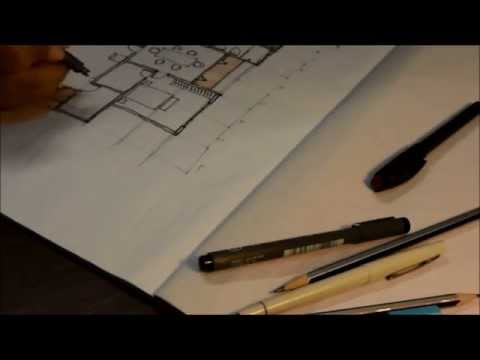 How to draw a house floor plan like an Architect