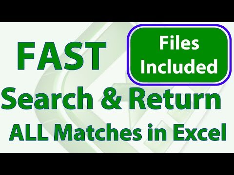 Fast Search Entire Excel Workbook & Return All Results into a Dashboard