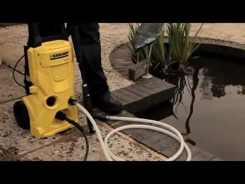 How to use a Kärcher pressure washer with a water butt and Suction Nozzle