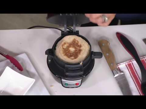 Hamilton Beach Breakfast Sandwich Maker w/ Recipe Book on QVC