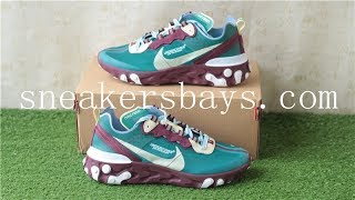 b57da260cc66 Undercover x Nike React Element 87 Purple Red review from sneakersbays.com