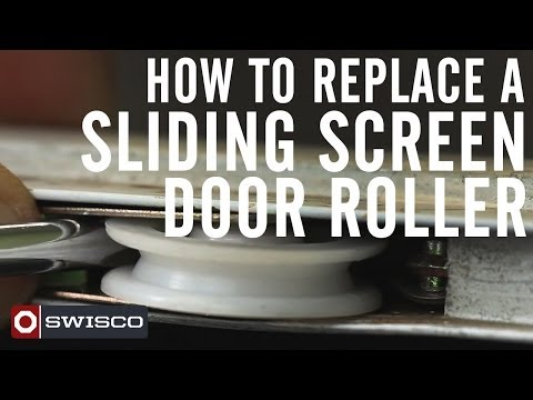How to Replace a Sliding Screen Door Roller [1080p]