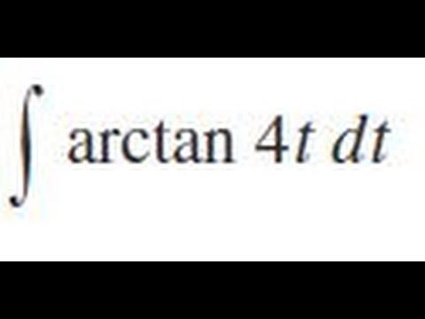 Integrate arctan(4t) dt
