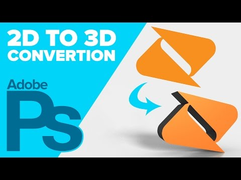 How to Convert a 2D Logo to 3D in Adobe Photoshop