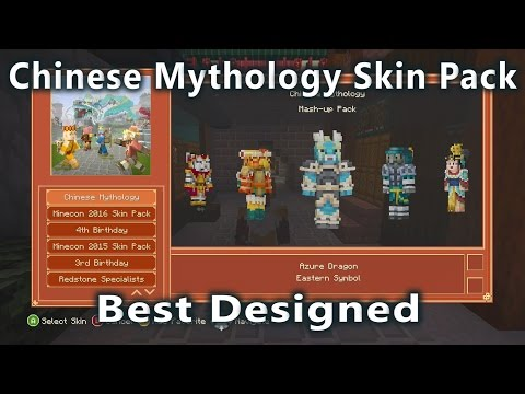 Minecraft - Chinese Mythology Skin Pack. (Best Designed Skin Pack So Far)