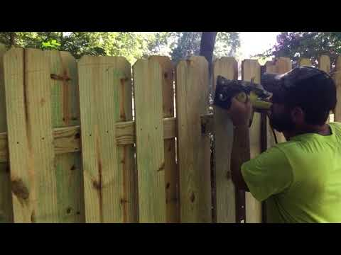 Cutting the arch of a shadowbox fence