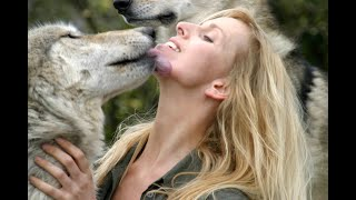 HUGE GREY WOLF - WITH WOLF GIRL ANNEKA (large wolves)
