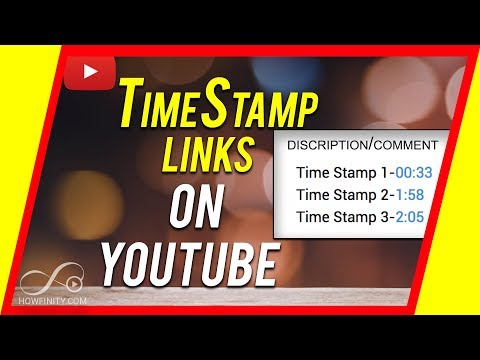 How To Add A TimeStamp Link In YouTube Description