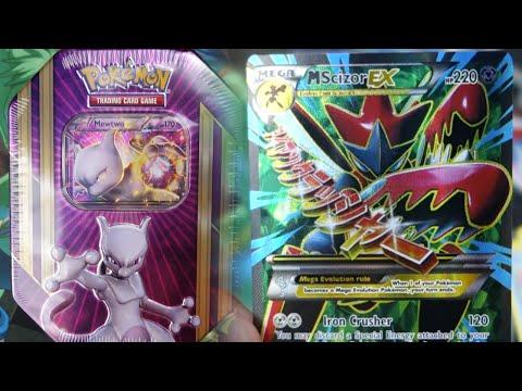 Pokemon Cards – Opening THE BEST Mewtwo EX Triple Power Tin! (INSANE PULLS!)