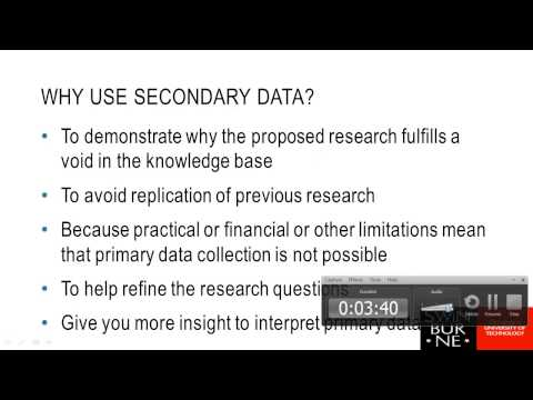 Week 2 - Primary & Secondary Data