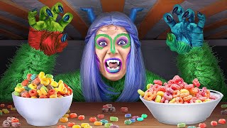 MY BEST FRIEND'S SECRET REVEALED || Funny Life Monster Under My Bed For 24 Hours by 123 GO! SCHOOL