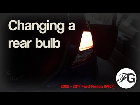 Changing a rear bulb on a 2008-2017 Ford Fiesta