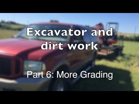 Mini Excavator Part 6: Finishing the Gravel and more grading