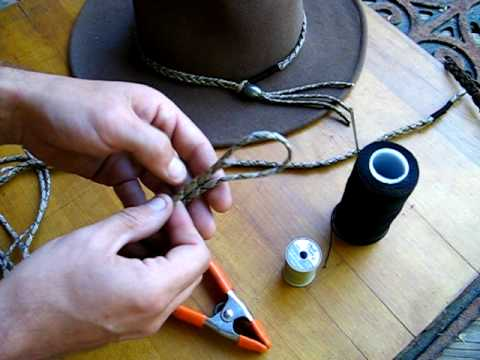 How to make a simple paracord hat band