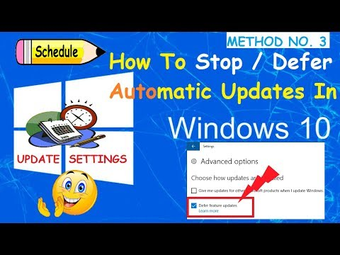 How To Defer | Stop Windows Updates From Update Settings [Method-3]