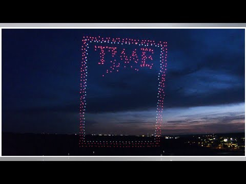 TIME magazine creates its latest cover with 958 drones