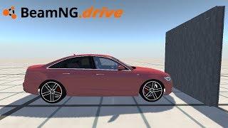 BeamNG drive - AUDI A6 VS BLOCOS DE CONCRETO.