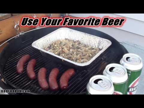 Smoked BBQ Beer Brat Recipe - BBQFOOD4U
