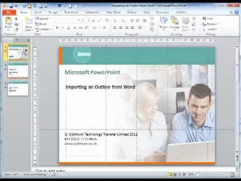 Microsoft Office 2010 - Importing an Outline from Word into PowerPoint