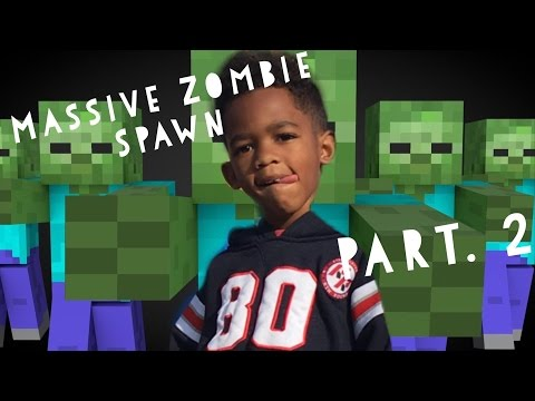 5 Year Old Massive Zombie Spawn Egg Pt.2 iPhone/iPad - HD Gameplay Minecraft