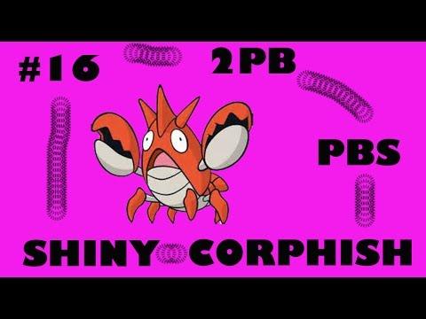 SHINY CORPHISH after 63 chain fish encounters (Pokemon Alpha Sapphire)