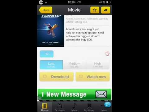 Movie Box - Requires Cydia, GREAT for watching movies