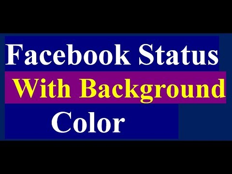 facebook status with background color