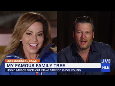 HLN's Robin Meade learns that Blake Shelton is her cousin